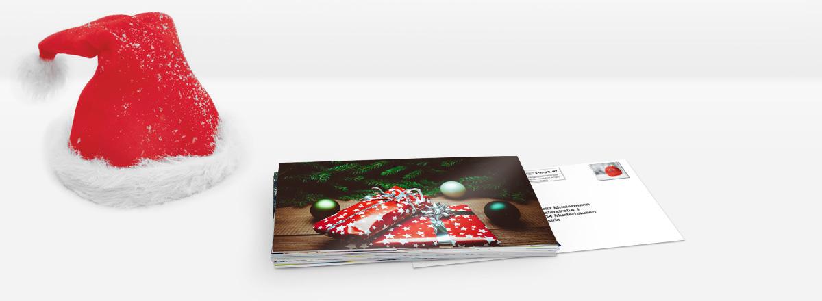 Foto-Postkarte Massenversand - Weihnachtsgrüße