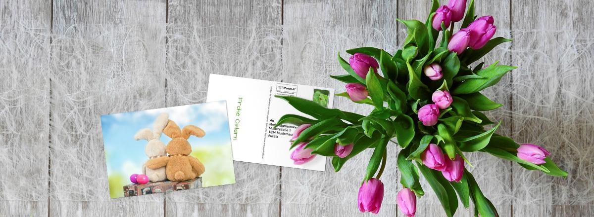 Foto-Postkarte - Individuelle Ostergrüße